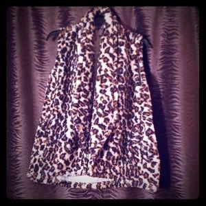 Never been worn Leopard fur vest